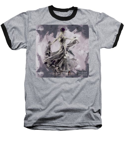 Baseball T-Shirt featuring the painting Spanish Dance Painting 03 by Gull G