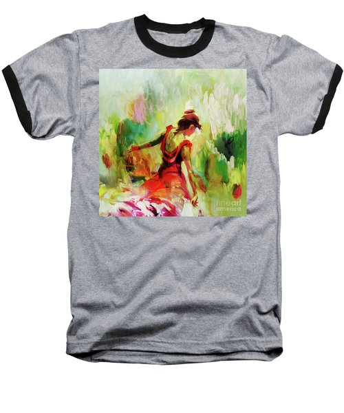 Baseball T-Shirt featuring the painting Spanish Female Art 56y by Gull G