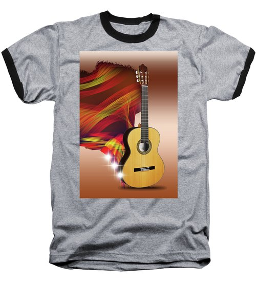 Spanish Guitar Baseball T-Shirt