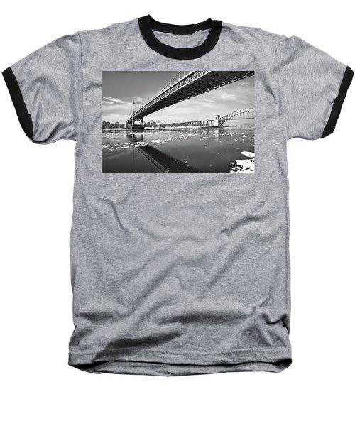 Spanning Bridges Baseball T-Shirt