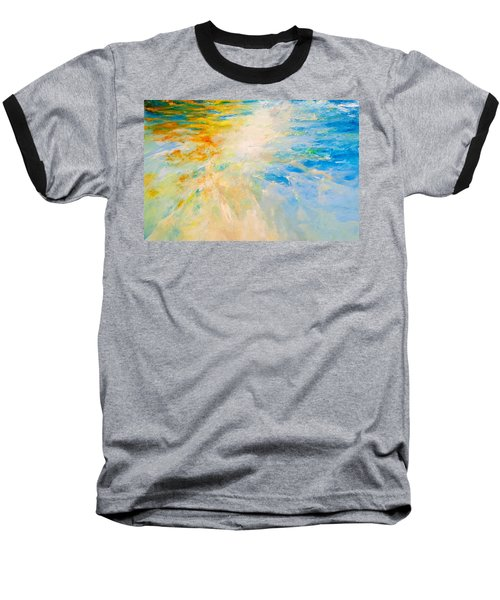 Baseball T-Shirt featuring the painting Sparkle And Flow by Dina Dargo