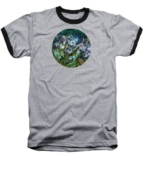 Baseball T-Shirt featuring the painting Sparkle In The Shade by Mary Wolf