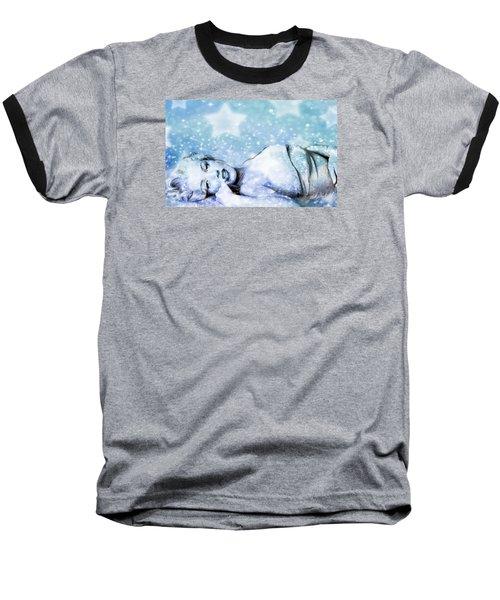 Sparkle Queen Baseball T-Shirt by Greg Sharpe