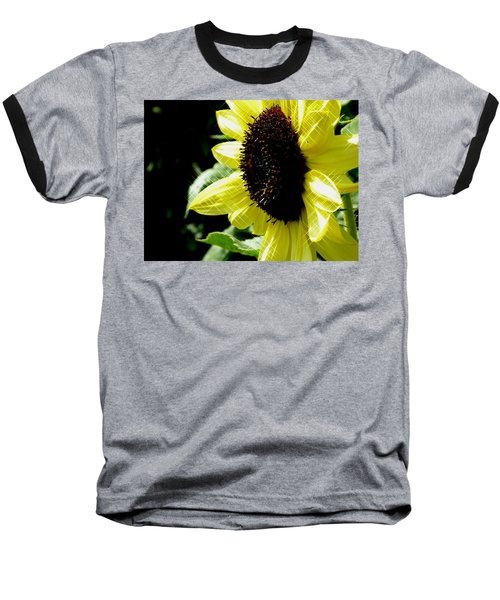 Sparkle Sunflower Baseball T-Shirt