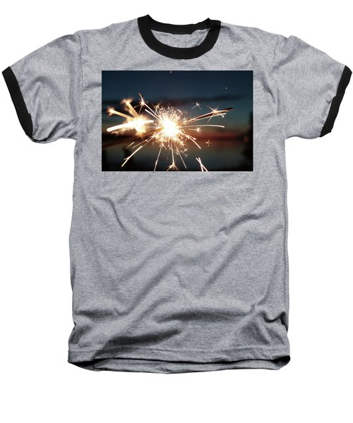 Sparklers After Sunset Baseball T-Shirt by Kelly Hazel