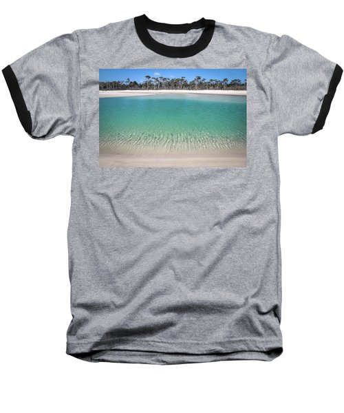 Sparkling Beach Lagoon On Deserted Beach Baseball T-Shirt