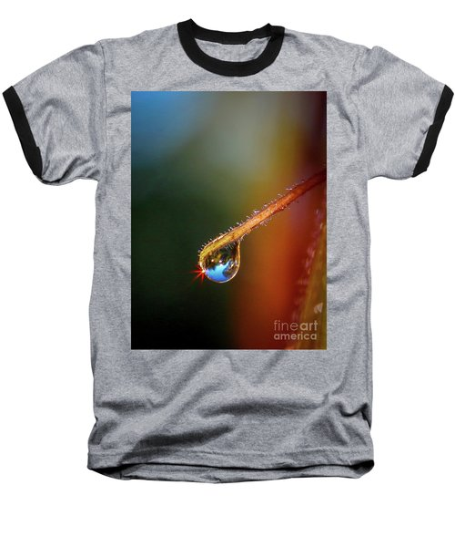 Sparkling Drop Of Dew Baseball T-Shirt by Tom Claud