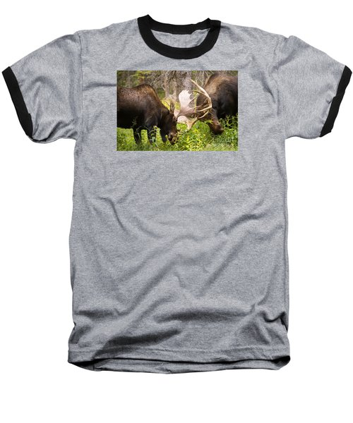 Baseball T-Shirt featuring the photograph Sparring  by Aaron Whittemore
