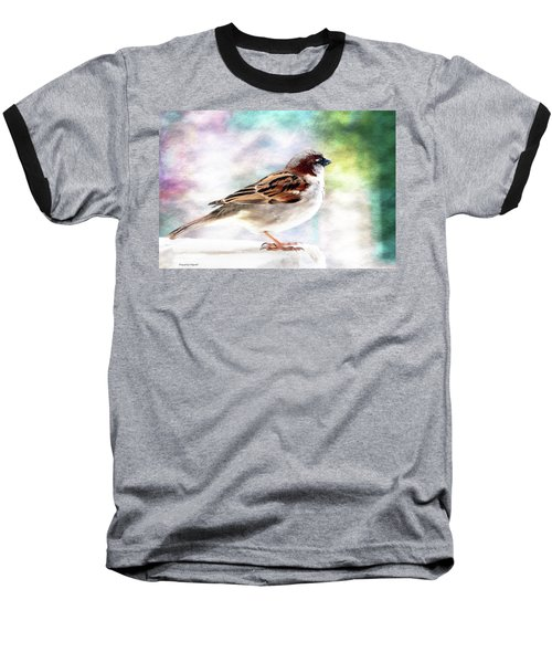 Sparrow Beauty 0004. Baseball T-Shirt by Kevin Chippindall