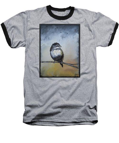 Sparrow Baseball T-Shirt by Carolyn Doe