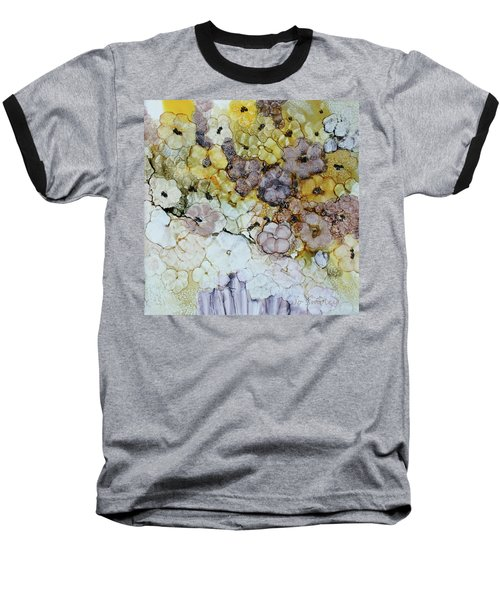 Baseball T-Shirt featuring the painting Spash Of Sunshine by Joanne Smoley