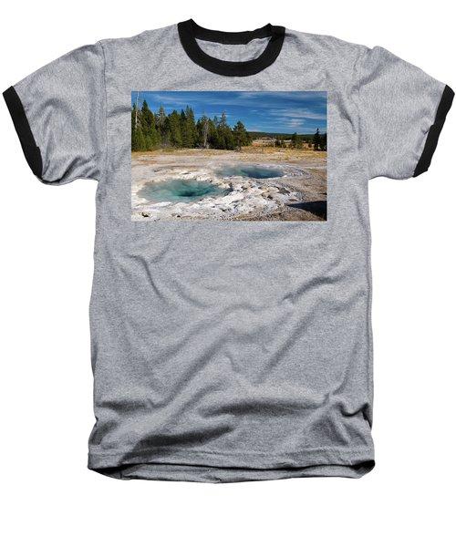 Spasmodic Geyser Baseball T-Shirt by Steve Stuller