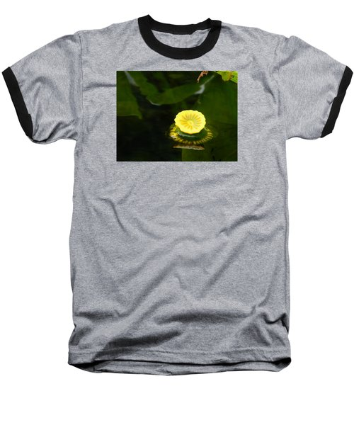 Spatterdock Reflections Baseball T-Shirt by Warren Thompson