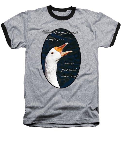 Speak Wisely Baseball T-Shirt