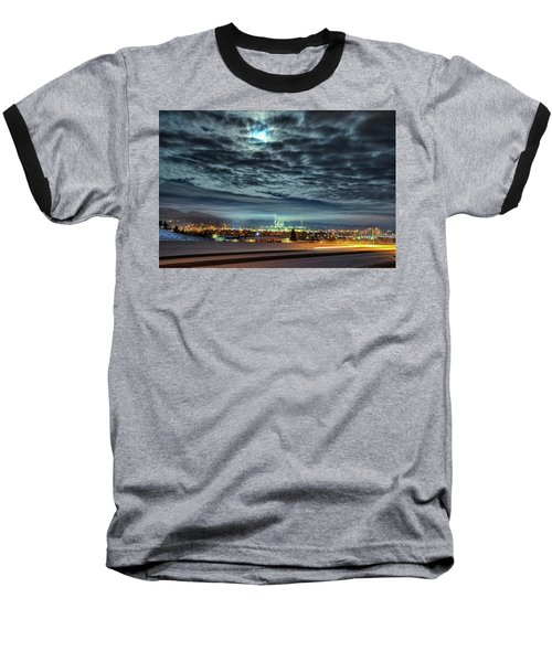 Spearfish Under The Moon Baseball T-Shirt by Fiskr Larsen