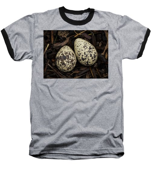 Speckled Killdeer Eggs By Jean Noren Baseball T-Shirt