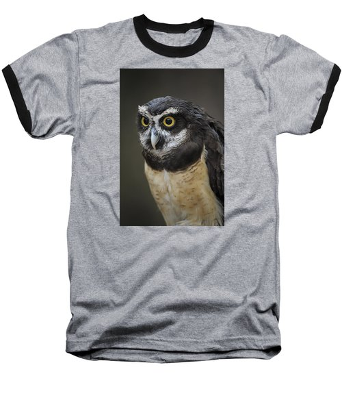 Spectacled Owl Baseball T-Shirt by Tyson and Kathy Smith