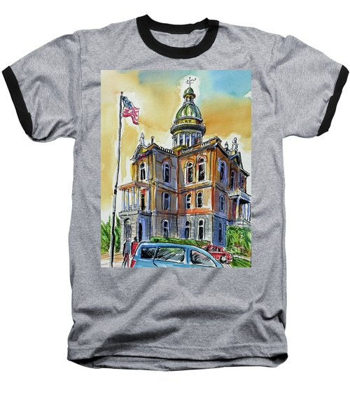 Spectacular Courthouse Baseball T-Shirt