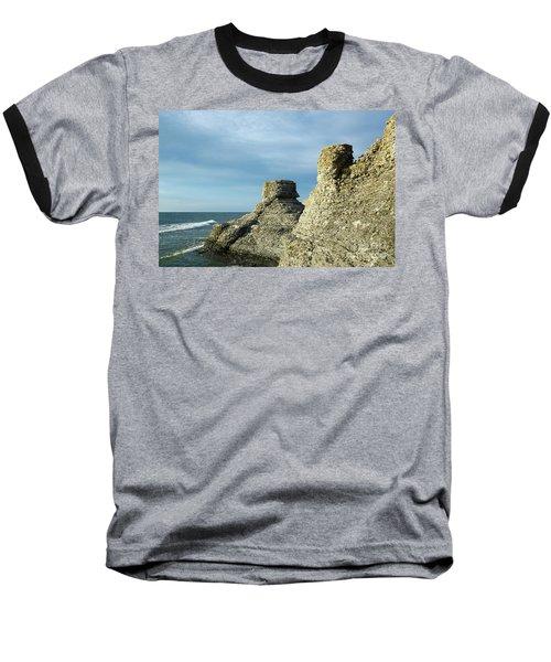 Spectacular Eroded Cliffs  Baseball T-Shirt by Kennerth and Birgitta Kullman