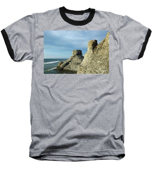 Spectacular Eroded Cliffs  Baseball T-Shirt