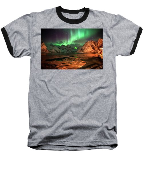 Spectacular Night In Lofoten 1 Baseball T-Shirt