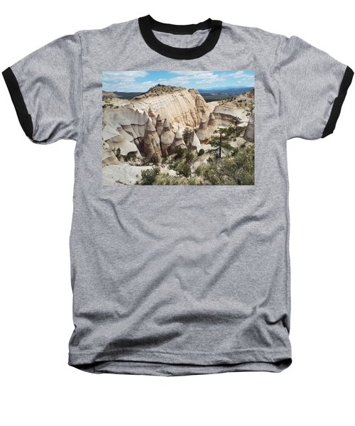 Spectacular Slot Canyon Trail View-at-the-top Baseball T-Shirt by Cindy Croal