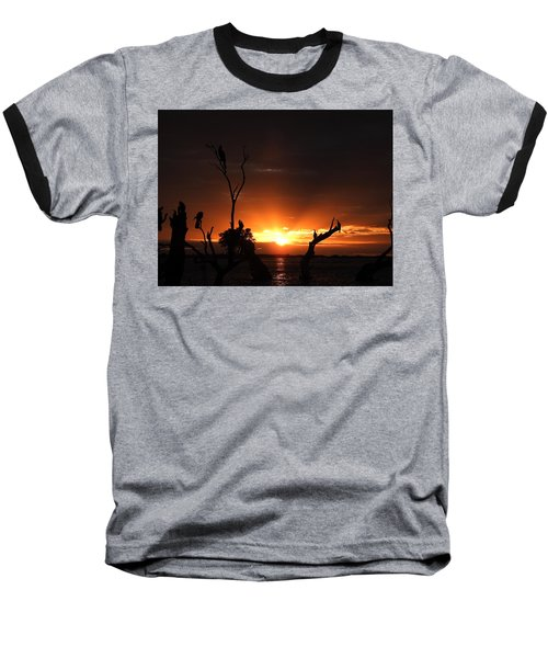 Spectacular Sunset Baseball T-Shirt by Betty-Anne McDonald