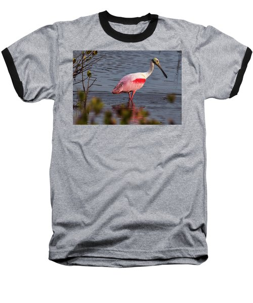 Spoonbill Fishing Baseball T-Shirt