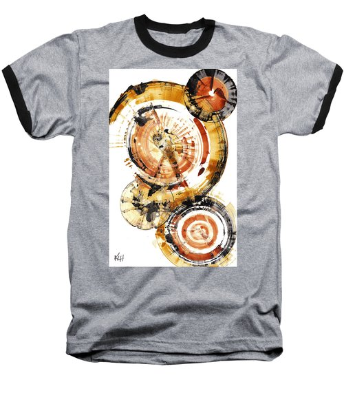 Baseball T-Shirt featuring the painting Sphere Series 1020.050112 by Kris Haas