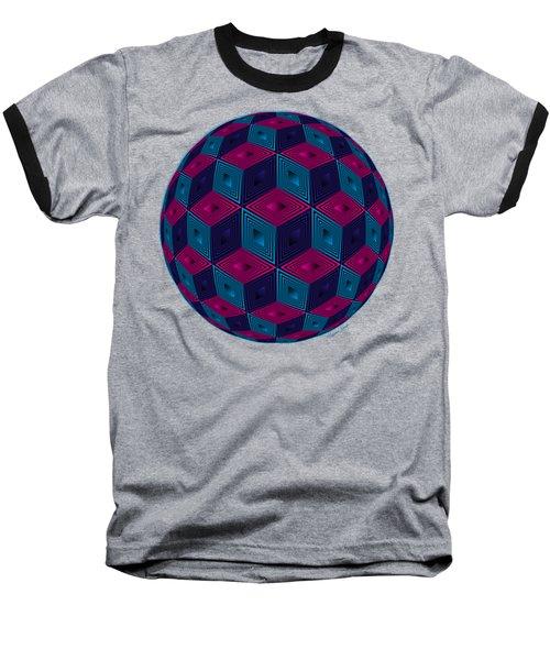 Spherized Pink Purple Blue And Black Hexa Baseball T-Shirt