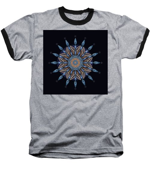 Baseball T-Shirt featuring the digital art Sphinx Moth Pattern Mandala by Deborah Smith