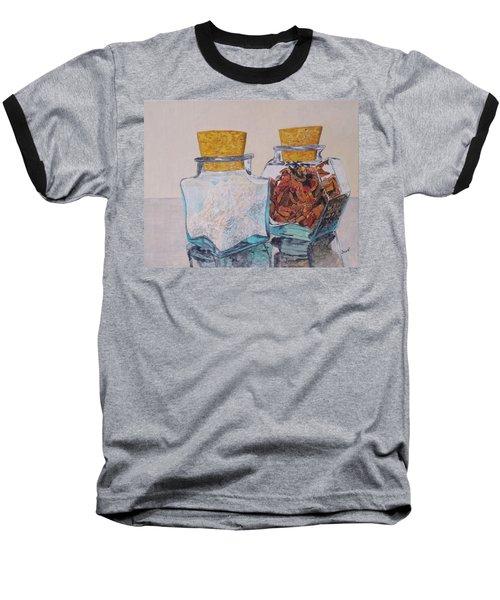 Spice Jars Baseball T-Shirt by Hilda and Jose Garrancho