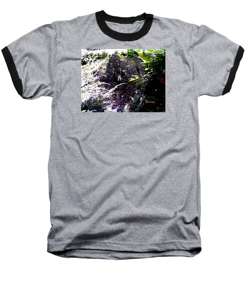 Baseball T-Shirt featuring the photograph Spider And Web 2 by Sadie Reneau