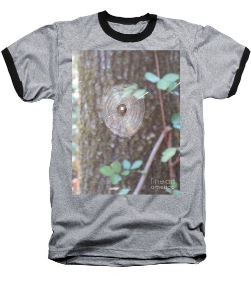 Baseball T-Shirt featuring the photograph Spider In The Round by Marie Neder