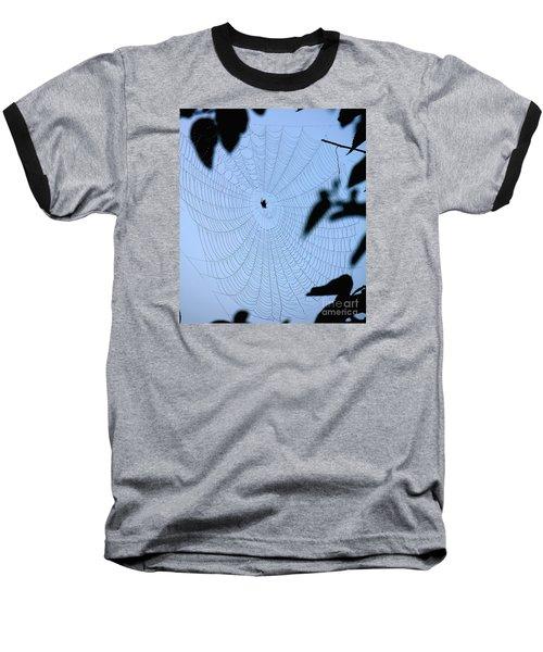 Spider In Web Baseball T-Shirt