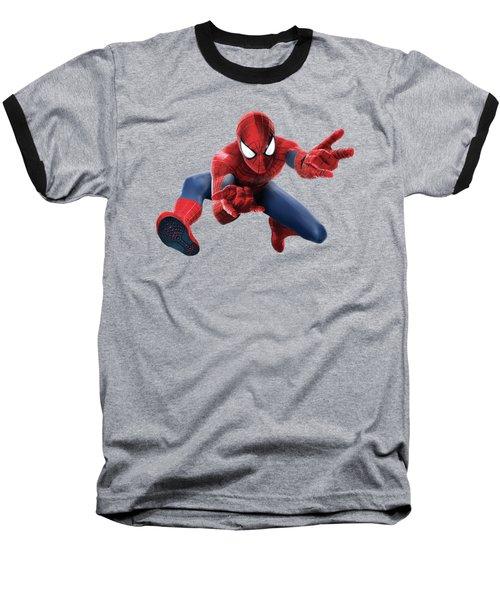 Spider Man Splash Super Hero Series Baseball T-Shirt by Movie Poster Prints