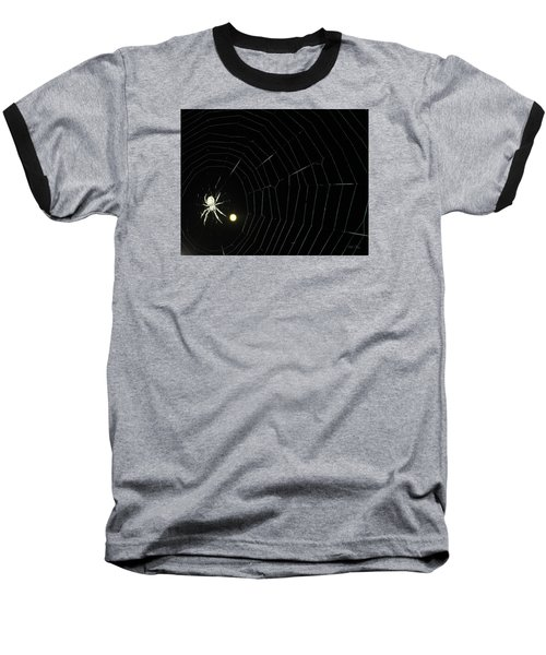 Spider Moon Baseball T-Shirt