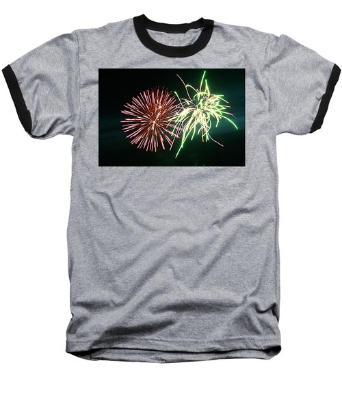 Spider On Flower Baseball T-Shirt