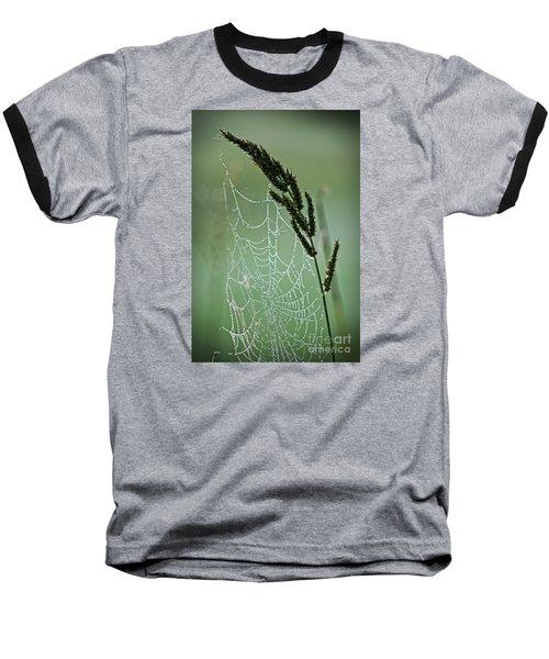 Spider Web Art By Nature Baseball T-Shirt by Ella Kaye Dickey