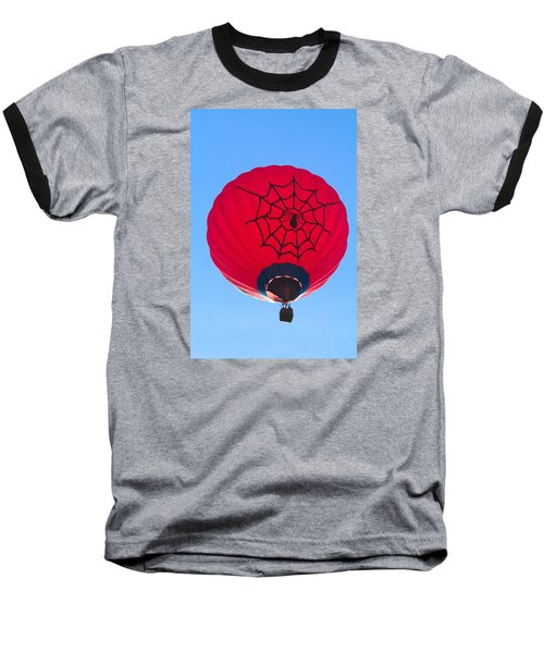 Spiderballoon Baseball T-Shirt by Brenda Pressnall