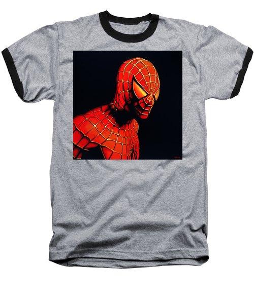 Spiderman Baseball T-Shirt by Paul Meijering