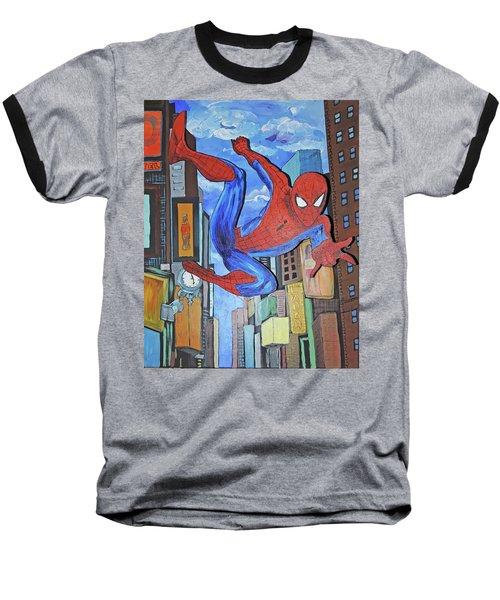 Spiderman Swings Baseball T-Shirt