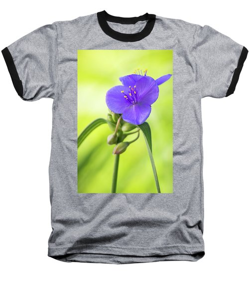 Spiderwort Wildflower Baseball T-Shirt