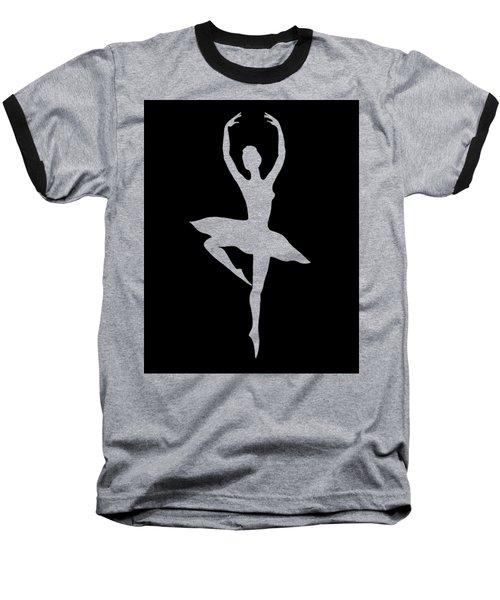 Spin Of Ballerina Silhouette Baseball T-Shirt by Irina Sztukowski