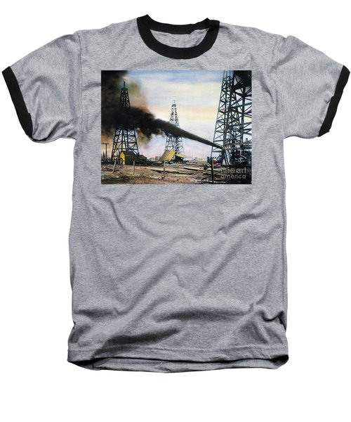 Spindletop Oil Pool, C1906 Baseball T-Shirt