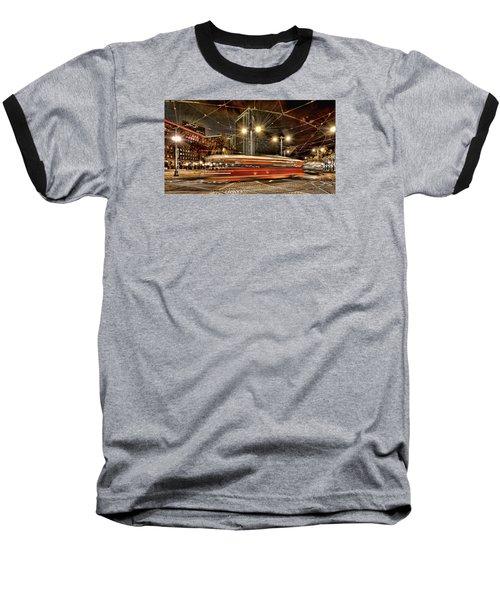 Spinning Trolley Car Baseball T-Shirt by Steve Siri