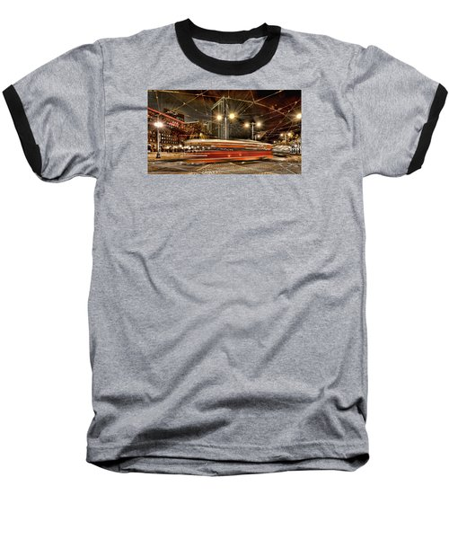 Baseball T-Shirt featuring the photograph Spinning Trolley Car by Steve Siri
