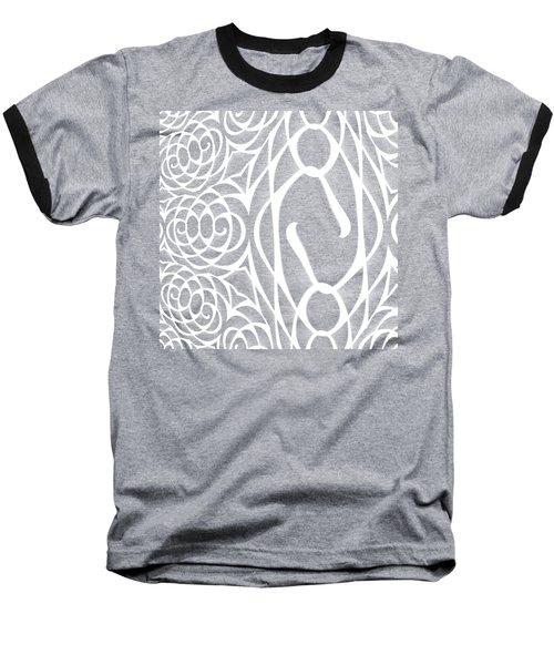 Spiral Abstract 8 Colour Choice Baseball T-Shirt