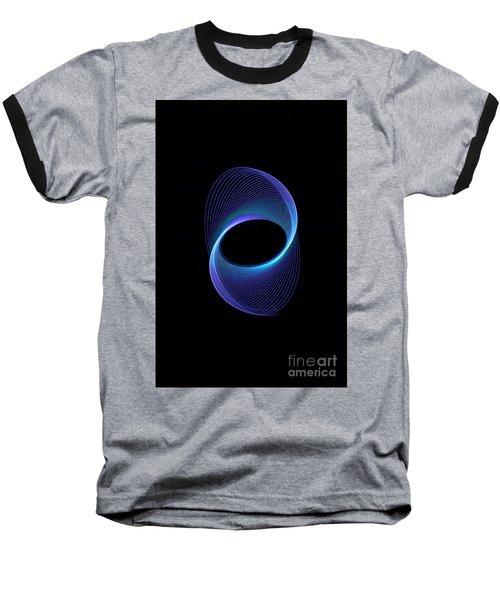 Spiral Abstract Baseball T-Shirt