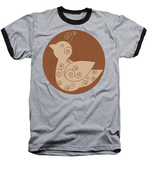 Spiral Bird Baseball T-Shirt